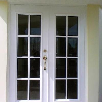 Puerta de dos hojas en aluminio y crista para jardin cuautitl n izcalli estado de m xico - Puertas de jardin de aluminio ...