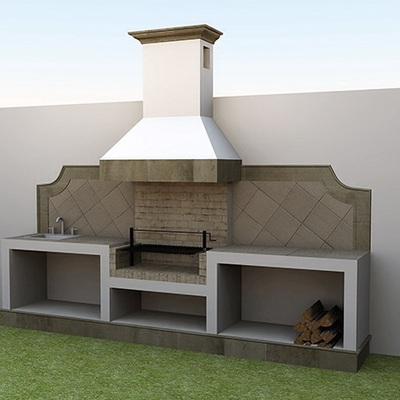 Asador para terraza las puentks san nicol s de los for Asadores para jardin modernos
