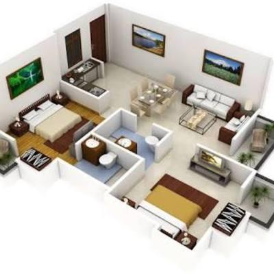 Construir casa caba a con tres habitaciones sala comedor cocina ba o en 90m2 pachuca de - Precio medio de una cocina ...