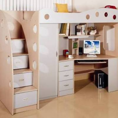 2 recamaras indivuduales con escritorio debajo una para for Recamaras infantiles queretaro