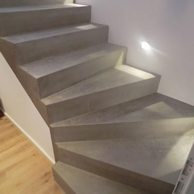 Remodelar escaleras microcemento cemento pulido miguel - Precio microcemento m2 ...
