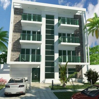 Edificio 3 pisos 6 departamentos jardines de ahuatepec for Pisos para apartamentos modernos