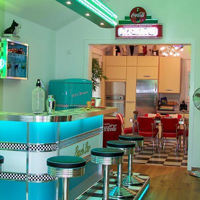 Cafeter a estilo 50 y 60 39 s puerta de belen quer taro for Decoracion de interiores queretaro