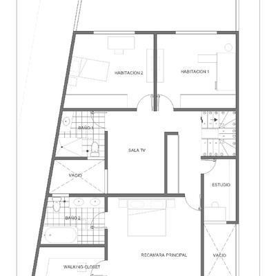 Quiero construir mi casa fachada de moderna casa de un for Cuanto cuesta un plano para construir una casa