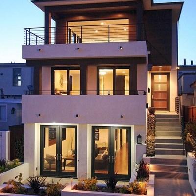 Construcci n de casa 3 pisos estilo moderno minimalista for Casa minimalista tres pisos