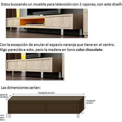 Hacer un mueble para televisin dimensiones 63 pulgadas de ancho