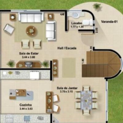 planos de casas de dos pisos de 10×20 metros
