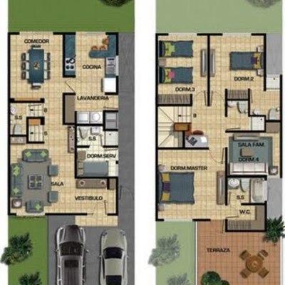 Costrucion de casa de 187 m2 en terreno de 150 m2 for Realizar planos de casas gratis