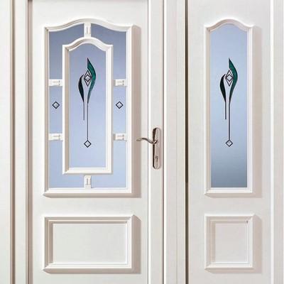 Puertas para ba o 1 89x79cm con vidrio con un tulipan al for Puertas para banos precios