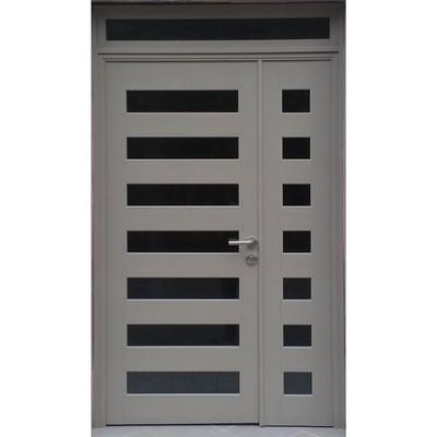 Proveer puerta de aluminio con 5 divisiones comercial de 2 for Puertas 90 x 210
