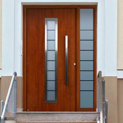 Proveer una puerta de aluminio color madera en la linea - Puertas de aluminio color madera ...