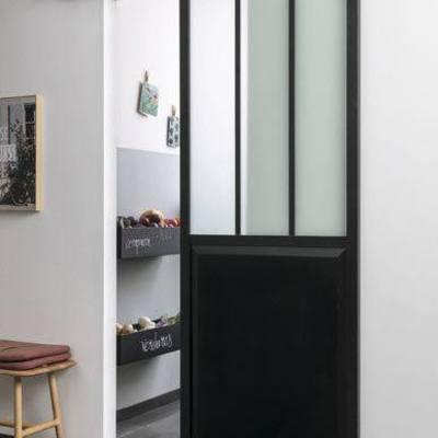 Puertas corredizas con cristal para dividir reas de la - Precio puertas correderas empotradas ...