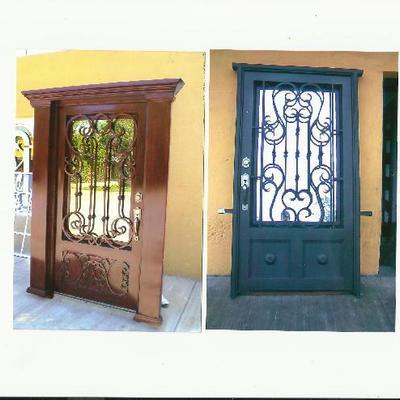 Puerta de acceso exterior cumbres del valle for Puertas para exterior precios