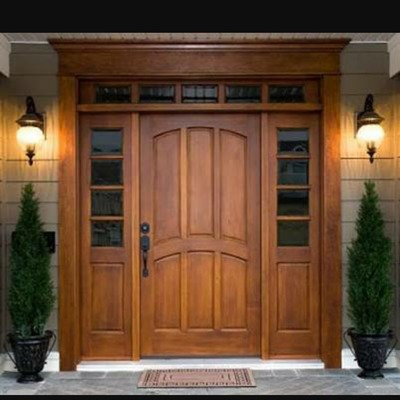 Puerta de madera para entrada principal lerma lerma for Puertas de madera para entrada principal de casa