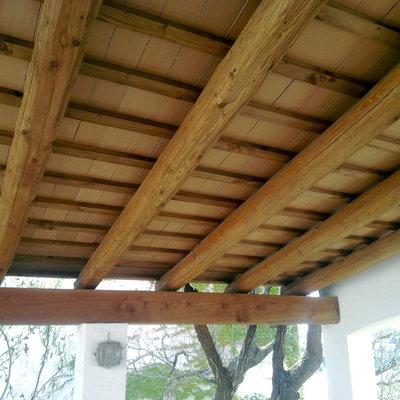 Construcci n de tejado rustico centro morelia - Techos de madera rusticos ...