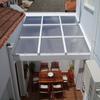 Estructura con techo de policarbonato o vidrio templado para patio de 20 mts2 aprox