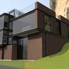Obra negra aparente de casa tipo loft