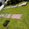 Plantillas de cemento para  exterior.   Aprox. 4x4mtr2 color ladrillo.
