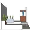 Elaborar un jardín con 3 bancas y dos jardineras,  base de concreto armado de. 40 x 1. 20 m hasta una altura de 0. 60 mts