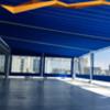 Suministrar techo retractil motorizado estruc palillos de membrana solar de 115m2