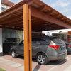 Terraza techada de madera en jardín posterior 6 x 4 aprox