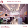 Diseño de interiores para salón de uñas  3 a 4 espacios para hacer uñas, con recepción, sin baño, 4x4 las medidas
