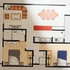 Diseño de interiores, departamento nuevo, 65 metros dos adultos, una adolescente, un preescolar