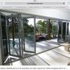 Construir e instalar puertas plegables de aluminio-vidrio de 4 hojas