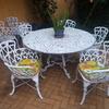 Flete de mesa y 8 sillas para jardín de aluminio