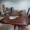 Reparar 3 mesas de madera: barniz y pintura