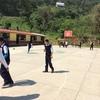 Construcción de arcotecho para escuela
