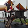 Mantenimiento restauración de set de juegos infantil