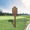 9 letreros de madera teka para campo de golf (mano de obra)
