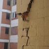 Generadores de daños y levantamiento edificio dañado sismo