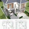 Construcción de casa estilo americano